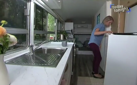 Australia mum home converted bus - Credit: Today Tonight