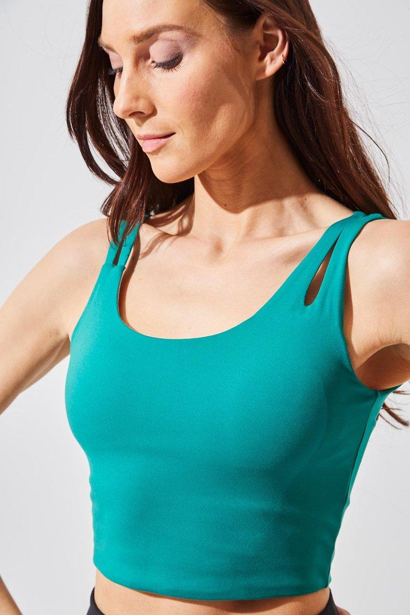 Bliss Recycled Polyester Light Support Bra Top. Image via MPG Sport.