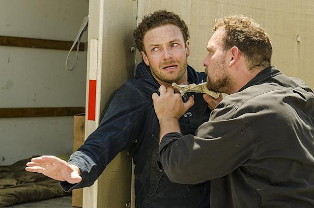 Ross Marquand as Aaron in 'The Walking Dead' (Photo: Gene Page/AMC)