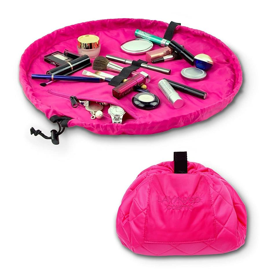 """You can be a makeup veteran and still make a total mess, but this worksas a handy surface to catch spills. Plus, it's machine-washable.<br /><br /><strong>Promising review:</strong>""""Great for the girl on the go who doesn't always get her makeup on before leaving the house or struggles with finding what you want deep in your purse. No more makeup mess on my passenger's seat and it doesn't go flying when I hit the brakes. Not that I would try to put on makeup while driving. Also easy to grab when going on a vacation."""" —<a href=""""https://www.amazon.com/gp/customer-reviews/R1NNE1Z1I5U39N?&linkCode=ll2&tag=huffpost-bfsyndication-20&linkId=280dc1455de433dd8bd9b4d04c791fef&language=en_US&ref_=as_li_ss_tl"""" target=""""_blank"""" rel=""""noopener noreferrer"""">m.panske</a><br /><br /><strong>Get it from Amazon for <a href=""""https://www.amazon.com/dp/B00CMFDP94?&linkCode=ll1&tag=huffpost-bfsyndication-20&linkId=6d9f71f23c7ddc4156f5eb4f551d4048&language=en_US&ref_=as_li_ss_tl"""" target=""""_blank"""" rel=""""noopener noreferrer"""">$26.95</a>.</strong>"""