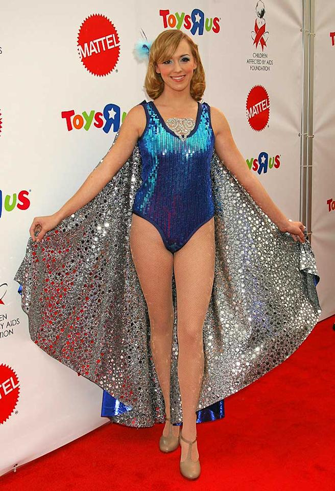 "Andrea Bowen (""Desperate Housewives"") lives out her secret fantasy of following in Pamela Anderson's footsteps to become a magician's assistant. Russ Einhorn/<a href=""http://www.splashnewsonline.com/"" target=""new"">Splash News</a> - October 27, 2007"