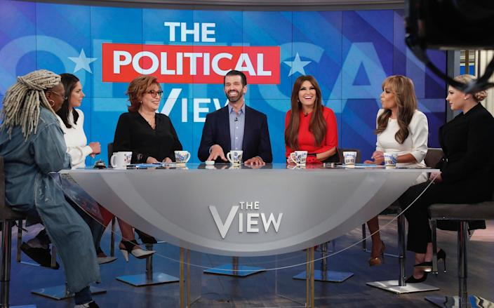 Donald Trump Jr. and Kimberly Guilfoyle appeared today, Thursday, November 7, 2019 on ABC's