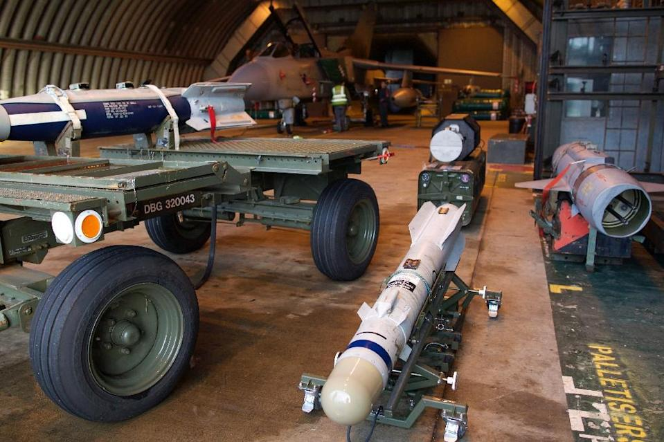 A Brimstone missile at the British Royal Air Force airbase RAF Marham in Norfolk in east England (AFP Photo/Philip Coburn)