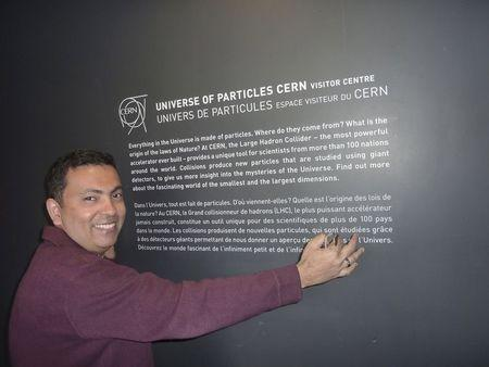 Avijit Roy, a Bangladesh-born U.S. citizen, is pictured in this family photograph taken in CERN, Switzerland in 2012 and released on May 8, 2015. REUTERS/Rafida Ahmed/Handout via Reuters