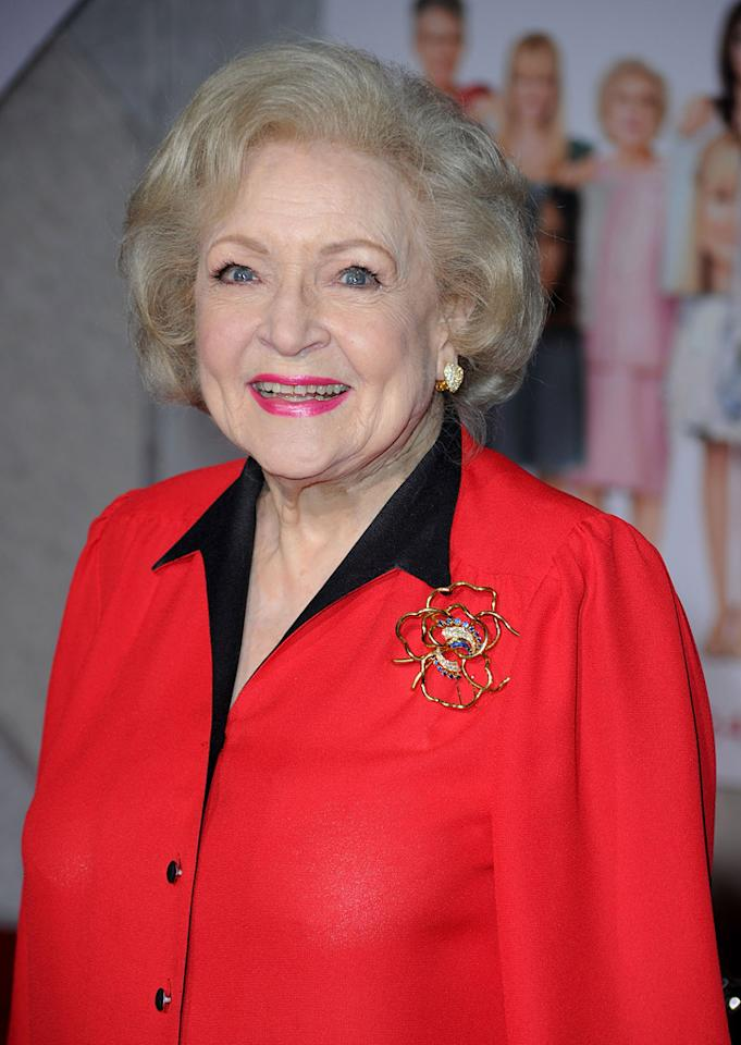 """Following her uproarious turn in """"<a href=""""http://movies.yahoo.com/movie/1810012112/info"""">The Proposal</a>"""" last year, Betty White is everywhere these days from gracing a line of sweatshirts, to hosting SNL, to starring in this week's """"<a href=""""http://movies.yahoo.com/movie/1810111331/info"""">You Again</a>."""""""