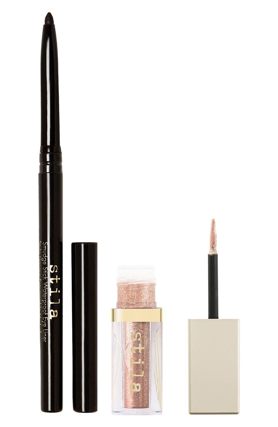 """<p><strong>STILA</strong></p><p>nordstrom.com</p><p><strong>$11.00</strong></p><p><a href=""""https://go.redirectingat.com?id=74968X1596630&url=https%3A%2F%2Fwww.nordstrom.com%2Fs%2Fstila-two-lucky-stars-eye-set-usd-34-value%2F5765744&sref=https%3A%2F%2Fwww.redbookmag.com%2Flife%2Fg34807129%2Fnordstrom-black-friday-cyber-monday-deals-2020%2F"""" rel=""""nofollow noopener"""" target=""""_blank"""" data-ylk=""""slk:Shop Now"""" class=""""link rapid-noclick-resp"""">Shop Now</a></p><p><strong><del>$22</del> $11 (50% off)</strong></p><p>A waterproof eyeliner and eyeshadow duo from Stila at this price is such a good steal. </p>"""