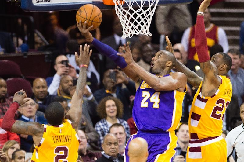 ade63875104 No mercy for Kobe in Cleveland farewell