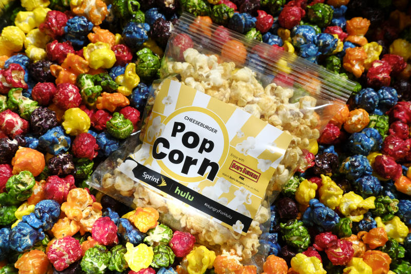 Beginning Nov. 17, Sprint Unlimited Freedom will include Hulu. To celebrate their partnership, Sprint created quite the sweet (and salty) surprise for consumers – eight different flavors of popcorn that give consumers a taste of their favorite Hulu show. (AJ Mast/AP Images for Sprint)