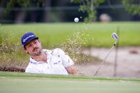 Doc Redman hits out of the bunker on the second green during the final round of the Palmetto Championship golf tournament in Ridgeland, S.C., Sunday, June 13, 2021. (AP Photo/Stephen B. Morton)