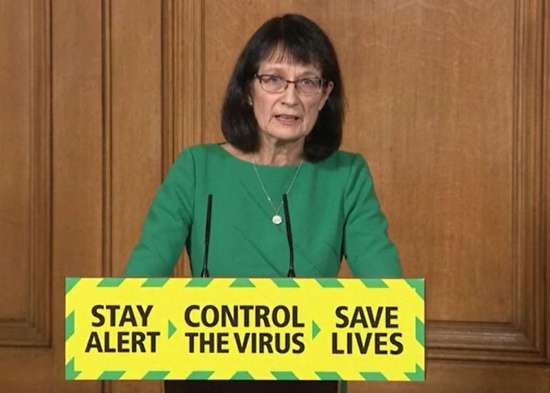 Screen grab of Deputy Chief Medical Officer Dr Jenny Harries during a media briefing in Downing Street, London, on coronavirus (COVID-19).