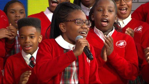 Middle school choir whose 'Rise Up' performance went viral