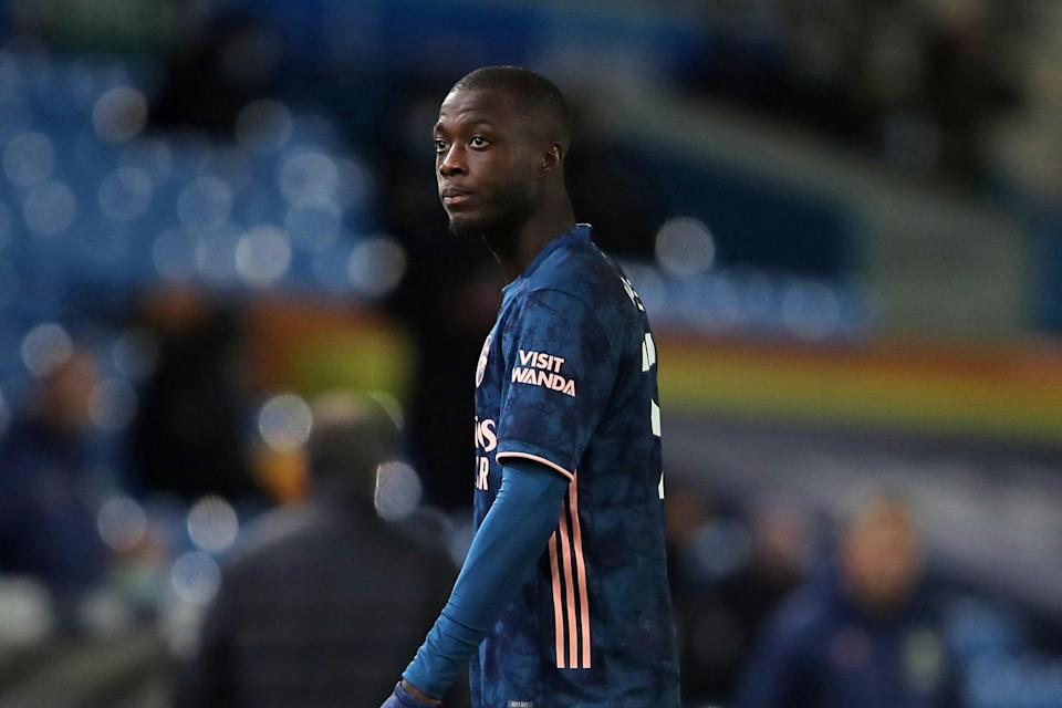 """<p>Nicolas Pepe was sent off at Leeds on Sunday and Mikel Arteta said his actions were """"unacceptable""""</p>POOL/AFP via Getty Images"""