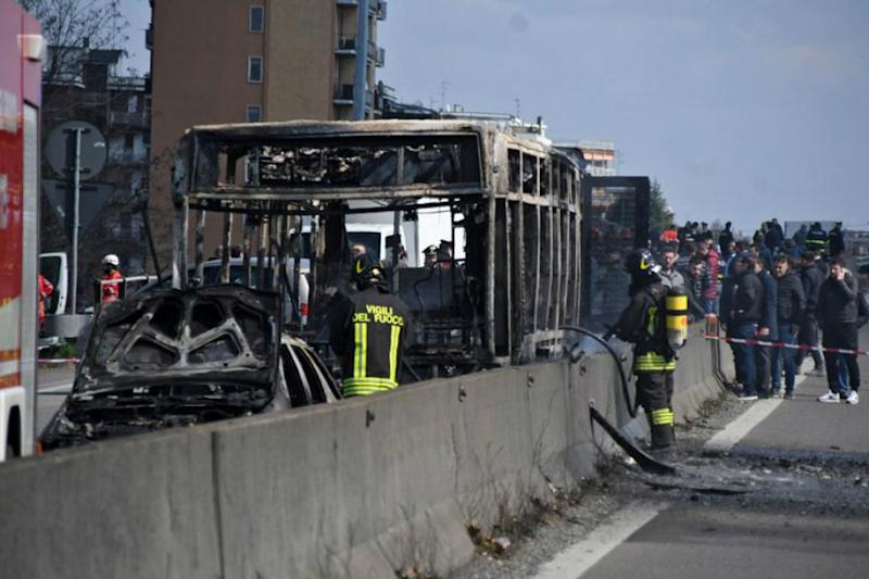 Bus Full of Children Set on Fire by Driver in Italy
