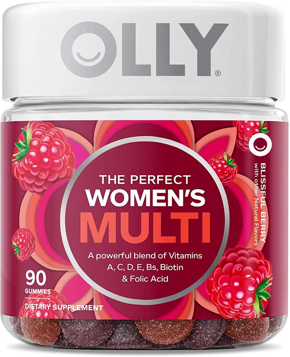 <p>I realize that a lot of people out there are iffy on vitamins and if they can actually aid in hair growth, but in the five months that I've been taking the <span>Olly Women's Multivitamins</span> ($12), I've noticed that my hair has gotten <em>a lot</em> stronger, and has even grown faster than it ever has. They're gummies containing a mix of biotin, folic acid, and a handful of vitamins, and they're so good that it almost doesn't feel like I'm taking a vitamin when I eat them.</p>