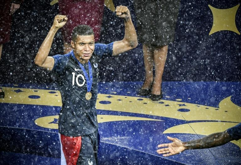 Kylian Mbappe was one of the stars of the France team that won the World Cup in Moscow in 2018
