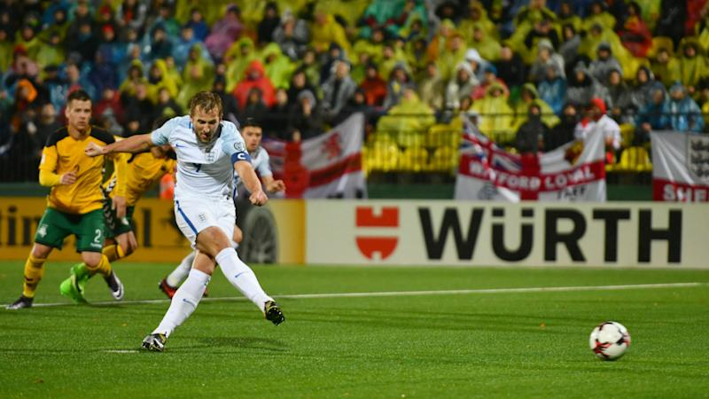 Lithuania 0 England 1: Kane penalty enough as Three Lions finish campaign unbeaten