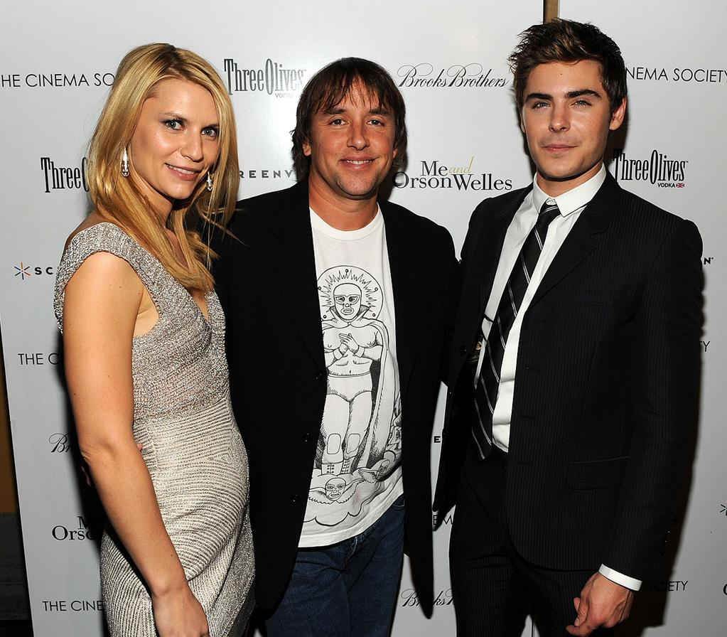 "<a href=""http://movies.yahoo.com/movie/contributor/1800019605"">Claire Danes</a>, director <a href=""http://movies.yahoo.com/movie/contributor/1800168382"">Richard Linklater</a> and <a href=""http://movies.yahoo.com/movie/contributor/1808543881"">Zac Efron</a> at the New York Cinema Society screening of <a href=""http://movies.yahoo.com/movie/1809995402/info"">Me and Orson Welles</a> - 11/23/2009"