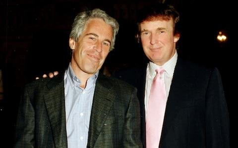 <span>Jeffrey Epstein and Donald Trump, pictured together in 1997 at Mar-a-Lago</span>