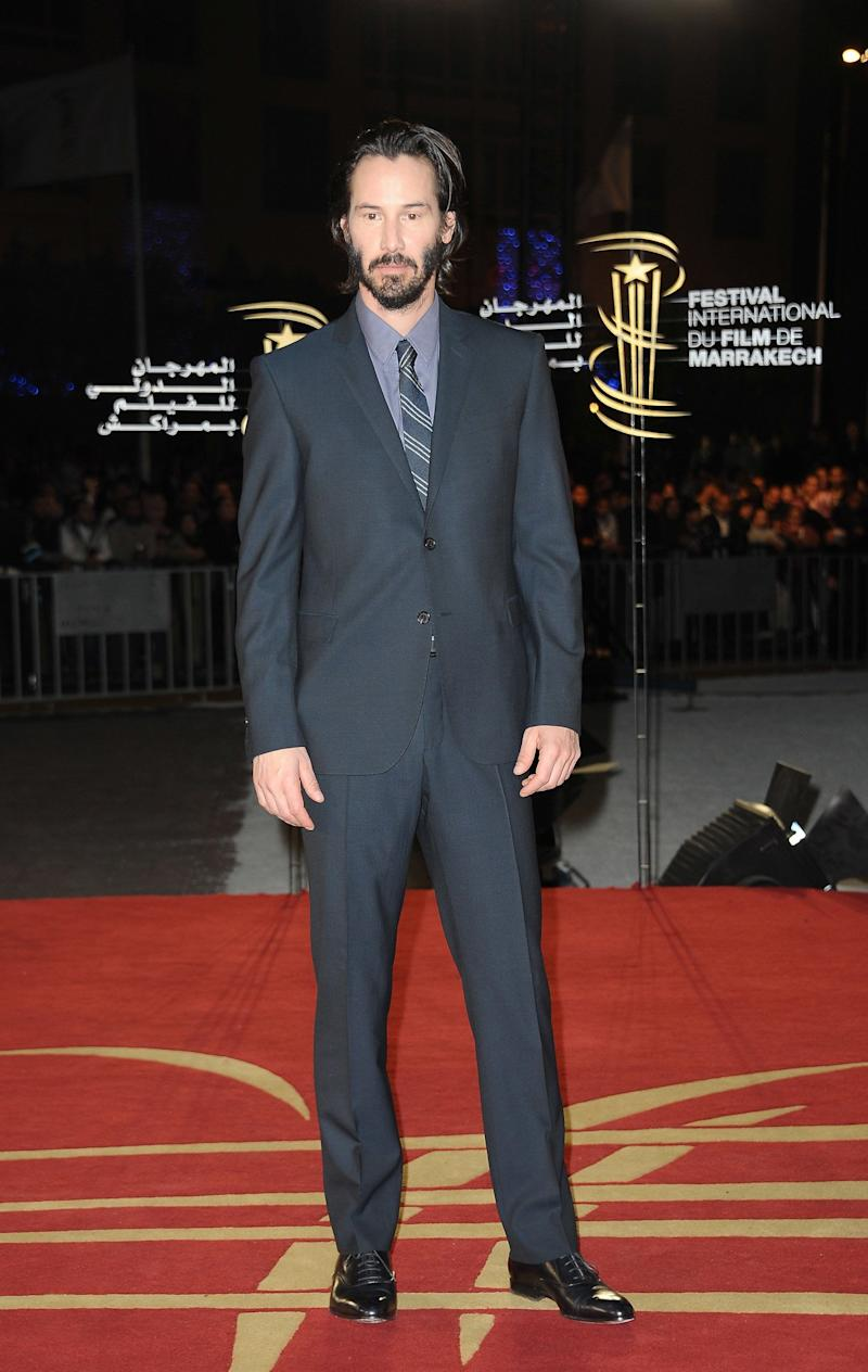 Keanu Reeves attends the tribute to James Caan during the 10th Marrakech Film Festival on December 5, 2010 in Marrakech, Morocco.