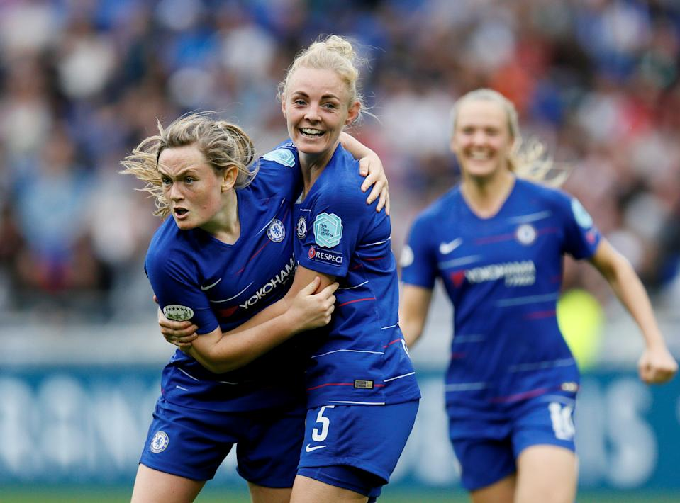 Scotland's Erin Cuthbert and Wales' Sophie Ingle both scored for Chelsea on Sunday as competition for Tokyo hots up   REUTERS/Emmanuel Foudrot