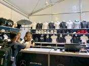 Fans lapping up official merchandise at Singapore F1. (PHOTO: Yahoo Lifestyle Singapore)