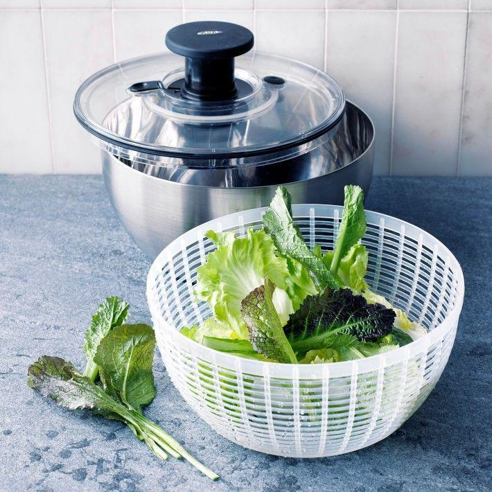 """<p><strong>OXO</strong></p><p>williams-sonoma.com</p><p><strong>$50.00</strong></p><p><a href=""""https://go.redirectingat.com?id=74968X1596630&url=https%3A%2F%2Fwww.williams-sonoma.com%2Fproducts%2Foxo-stainless-steel-salad-spinner&sref=https%3A%2F%2Fwww.menshealth.com%2Ftechnology-gear%2Fg32270252%2Fcheap-mothers-day-gifts%2F"""" rel=""""nofollow noopener"""" target=""""_blank"""" data-ylk=""""slk:BUY IT HERE"""" class=""""link rapid-noclick-resp"""">BUY IT HERE</a></p><p>A unique Mother's Day gift, this affordable stainless-steel salad spinner will keep Mom motivated to make restaurant-quality salads in the comfort of her own casa. </p>"""