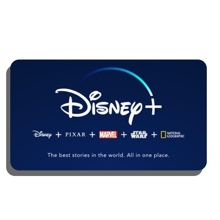 """<p><strong>Disney+</strong></p><p>disneyplus.com</p><p><strong>$69.99</strong></p><p><a href=""""https://go.redirectingat.com?id=74968X1596630&url=https%3A%2F%2Fsubscriptioncard.disneyplus.com%2F&sref=https%3A%2F%2Fwww.bestproducts.com%2Flifestyle%2Fg34252800%2Fbest-gift-cards%2F"""" rel=""""nofollow noopener"""" target=""""_blank"""" data-ylk=""""slk:Shop Now"""" class=""""link rapid-noclick-resp"""">Shop Now</a></p><p>Winter is coming, so ensure that their hibernation hub is loaded up with the finest entertainment available. This 1-year gift subscription to Disney+ provides them with every Disney, <em>Star Wars</em>, Pixar, Marvel, and National Geographic movie and show for their streaming convenience. Just keep in mind that this gift is for <em>new</em> subscribers only.</p>"""
