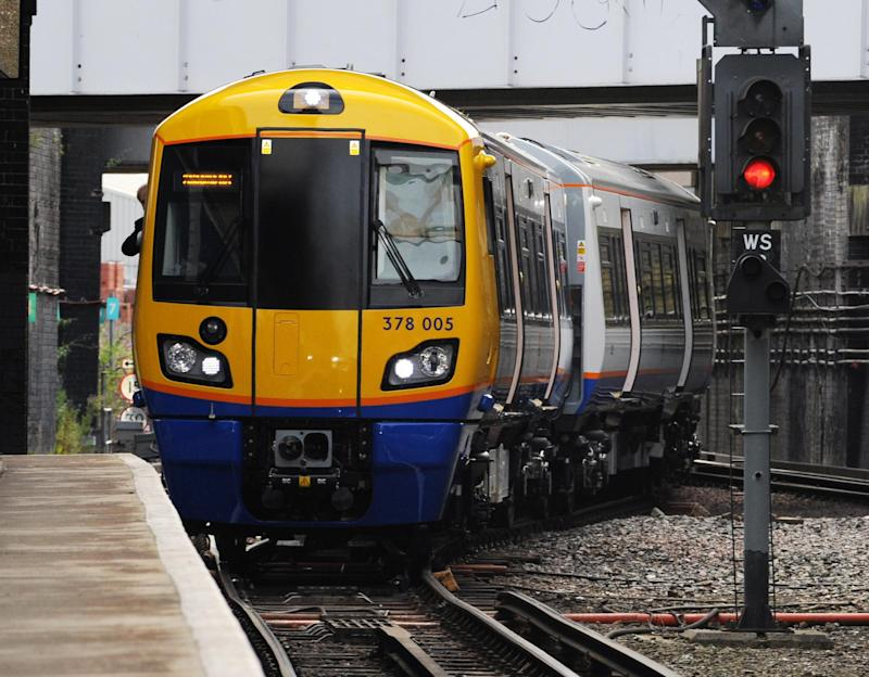 The men were found on London Overground lines (file image) (Fiona Hanson/PA)