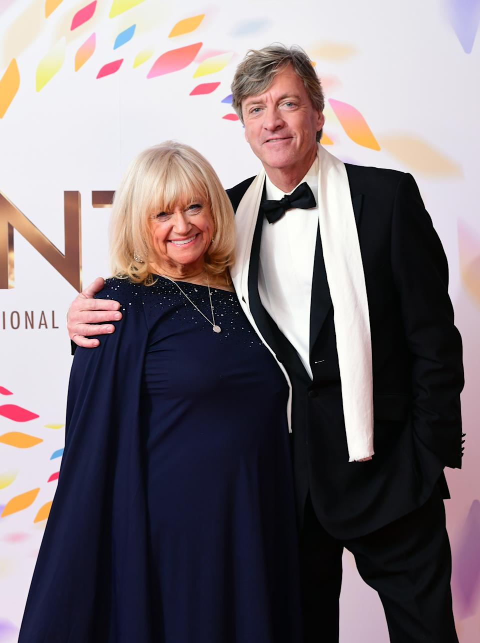Judy Finnigan (left) and Richard Madeley in the press room during the National Television Awards at London's O2 Arena.