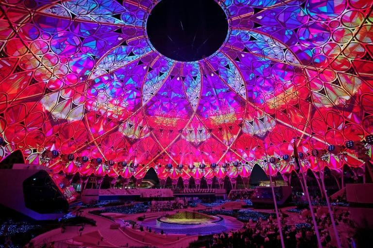 Expo 2020 was declared open by Dubai's crown prince in a spectacular show (AFP/Karim SAHIB)