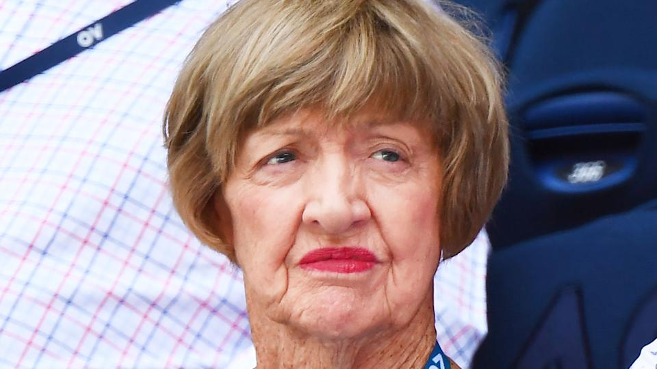Margaret Court is pictured here at the Australian Open.