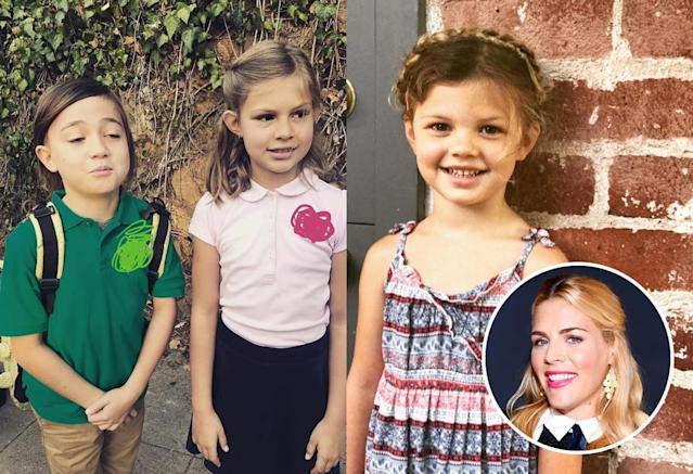 "<p>Busy Philipps is also stunned by how quickly kids seem to grow up. ""First day of her last year of preschool. Makes no sense. None,"" she captioned this photo of Cricket. As for Birdie, she posed with her BFF ""since birth"" during their first week of third grade. (Photos: <a href=""https://www.instagram.com/p/BYgPNzIhDL1/?hl=en&taken-by=busyphilipps"" rel=""nofollow noopener"" target=""_blank"" data-ylk=""slk:Busy Philipps"" class=""link rapid-noclick-resp"">Busy Philipps</a> <a href=""https://www.instagram.com/p/BYqxwI-BwlY/?hl=en&taken-by=busyphilipps"" rel=""nofollow noopener"" target=""_blank"" data-ylk=""slk:via Instagram"" class=""link rapid-noclick-resp"">via Instagram</a>/Getty Images) <br><br></p>"