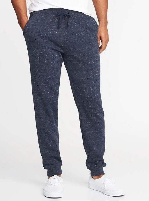 """These Tapered Drawstring Joggers for Men available in sizes XS to XL. <a href=""""https://fave.co/35nXigS"""" target=""""_blank"""" rel=""""noopener noreferrer"""">Get them on sale for 50% off (normally $30) at Old Navy</a>."""