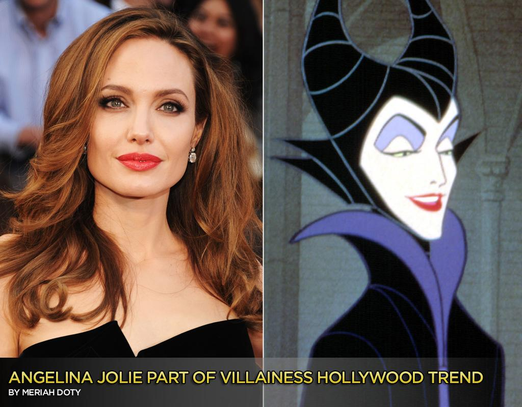 """Angelina Jolie has an uncanny knack for bending movies into submission. Just as """"Salt"""" became her star vehicle in 2010—in spite of the fact that it was written for a male lead and was originally set to star Tom Cruise—Jolie plays the title role as the villainess in Disney's live-action """"Maleficent."""" <br><br>Based on """"Sleeping Beauty,"""" this film inverts the classic fairy tale by focusing on the story of Maleficent and why she is driven to curse a princess. <span style=""""font-size:10.5pt;color:black;"""">This is surely a meatier starring role for Jolie than a girl who pricks her finger on a spindle and falls into deep sleep.</span> Disney has announced the film will be in theaters March 14, 2014.<br><br>""""I've already got my horns fitted. My kids are very happy,"""" Jolie said in a <a href=""""http://insidemovies.ew.com/2012/03/26/angelina-jolie-leg-maleficent/4/"""">recent interview with EW</a>. <br><br>Indicative of a trend, other Academy Award winning actresses who are playing villainesses include: Charlize Theron, Julia Roberts, Rachel Weisz, and Susan Sarandon."""