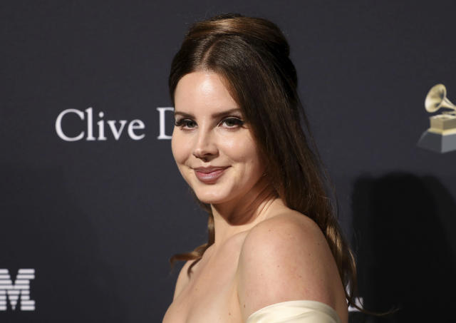 Lana Del Rey at the Pre-Grammy Gala And Salute To Industry Icons at the Beverly Hilton Hotel in 2020, in Beverly Hills (Mark Von Holden/Invision/AP)