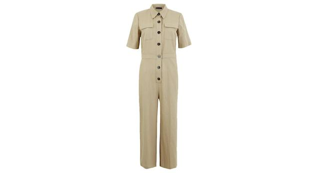 Tencel Button Front Utility Jumpsuit
