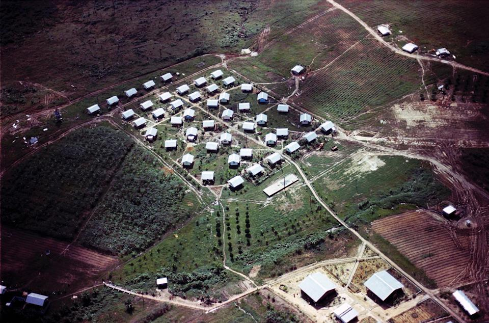 An aerial shot of Jonestown in 1978 (Photo: Courtesy Everett Collection)