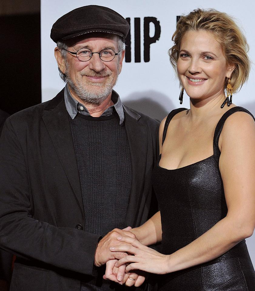 "<a href=""http://movies.yahoo.com/movie/contributor/1800010823"">Steven Spielberg</a> and <a href=""http://movies.yahoo.com/movie/contributor/1800016287"">Drew Barrymore</a> at the Los Angeles premiere of <a href=""http://movies.yahoo.com/movie/1810036665/info"">Whip It!</a> - 09/29/2009"