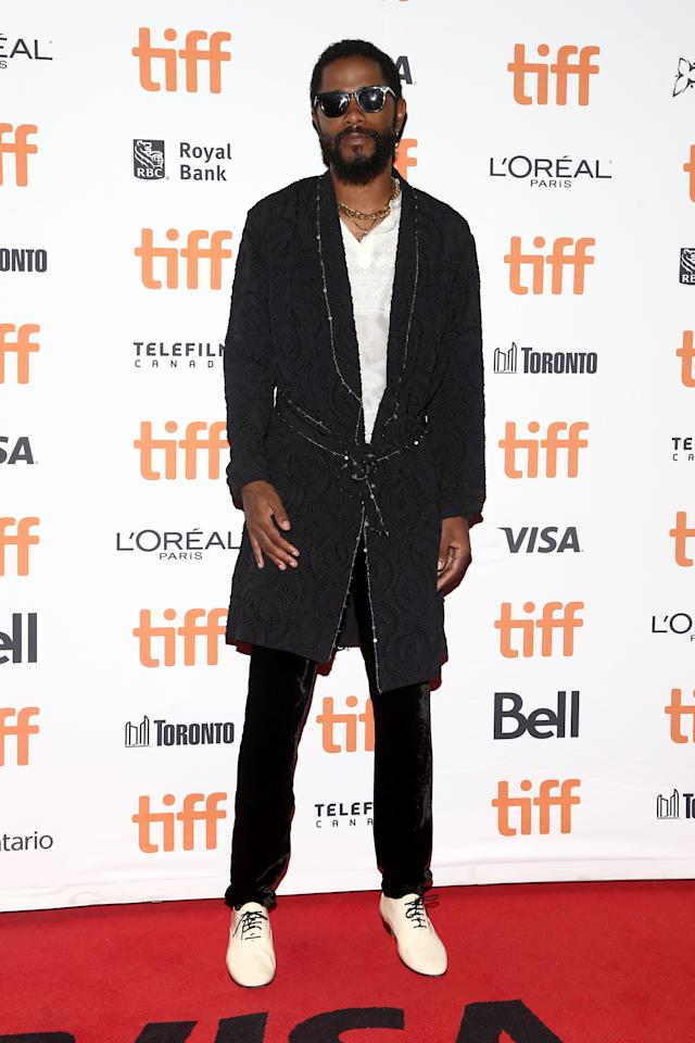 <p>WHAT: Saint Laurent by Anthony Vaccarello</p> <p>WHERE: The premiere of <em>Uncut Gems</em> at the Toronto Film Festival</p> <p>WHEN: September 9, 2019</p> <p>WHY: Introducing the black-tie bathrobe.</p>