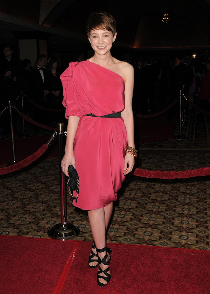 """<a href=""""http://movies.yahoo.com/movie/contributor/1808686699"""">Carey Mulligan</a> at the 62nd Annual Directors Guild of America Awards in Century City, California on January 30, 2010."""