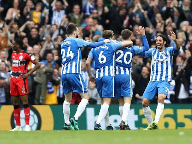 Huddersfield and 10-man Brighton share the spoils as fears of relegation linger