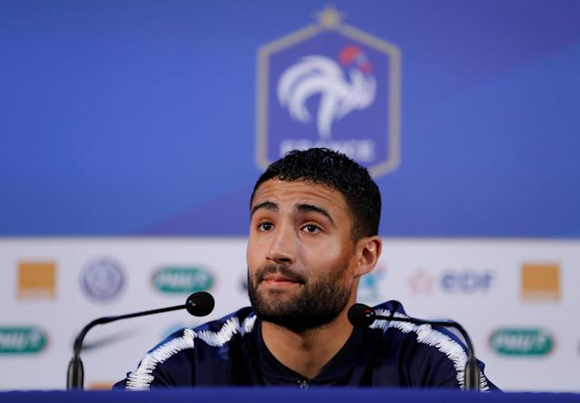 Soccer Football - World Cup - France Press Conference - Istra, Russia - June 19, 2018 France's Nabil Fekir during the press conference REUTERS/Tatyana Makeyeva