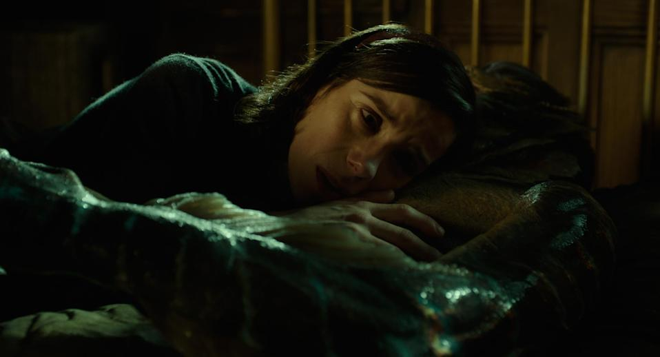 Sally Hawkins cosies up the the creature in <i>The Shape of Water</i> (Fox)
