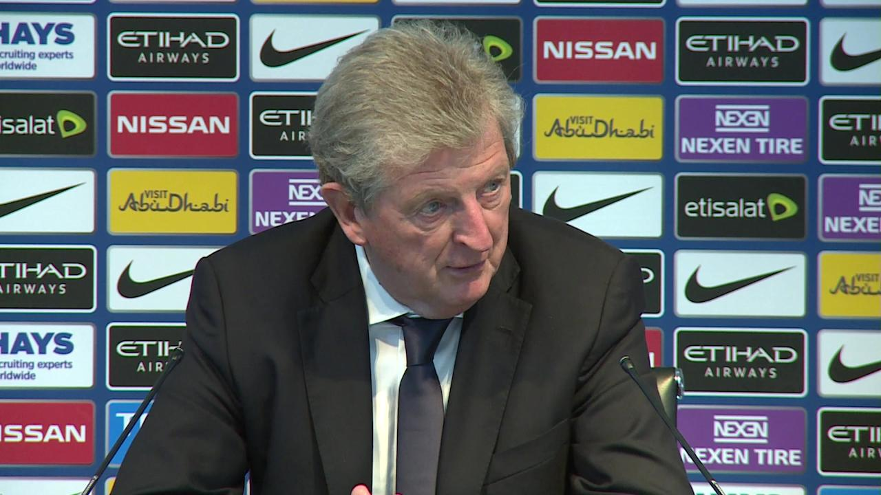 Roy Hodgson discusses his Premier League survival experience with Fulham, following Crystal Palace's 5-0 thrashing at Manchester City.