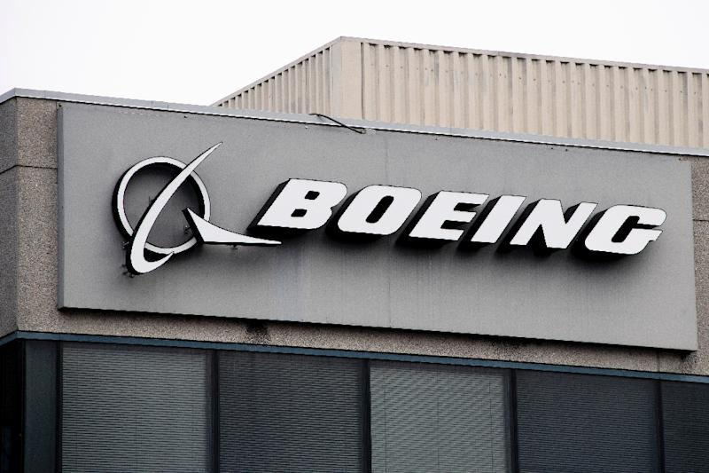 The Boeing Company logo, in a file image, as Brazil's Gol airline said it was grounding its Boeing 737 MAX 8 aircraft