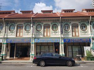 three adjoining shophouses