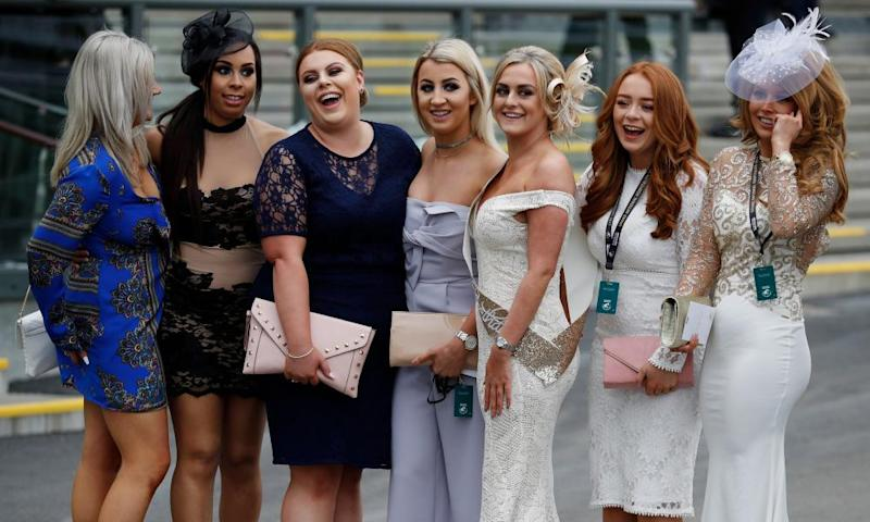 Racegoers settle in at Aintree for day two of the Grand National race-meeting.