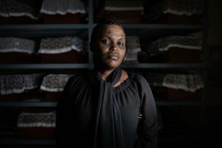 Albertine Mukakamanzi last saw her mother kneeling in prayer as men with machetes closed in