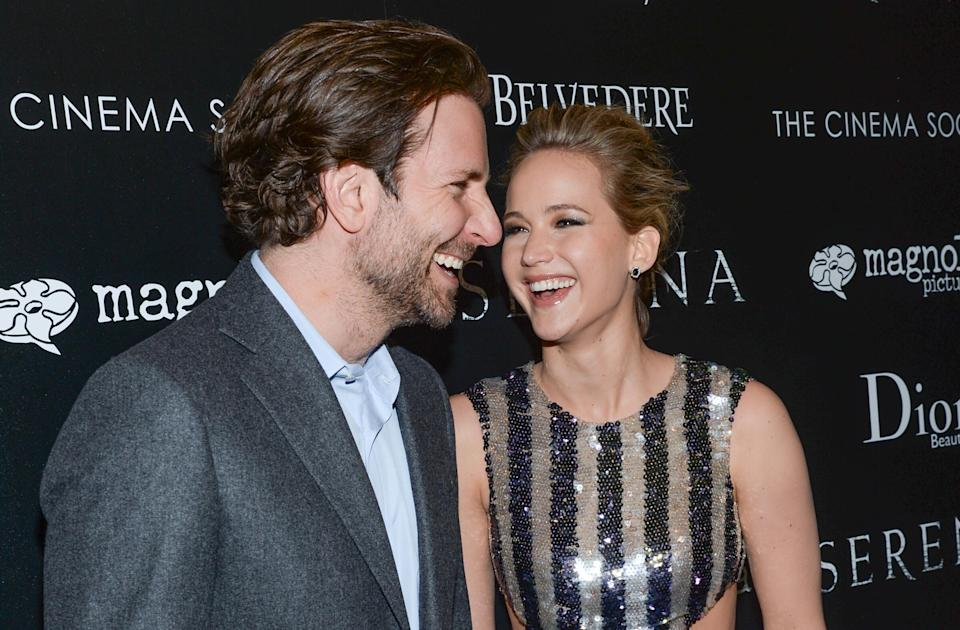 """Actors Bradley Cooper and Jennifer Lawrence attend a special screening of """"Serena"""", hosted by The Cinema Society and Dior Beauty, at the Landmark Sunshine Cinema on Saturday, March, 21, 2015, in New York. (Photo by Evan Agostini/Invision/AP)"""