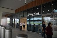 <p>The Departure Hall's public exit at the Seletar Airport's new passenger terminal. (PHOTO: Yahoo News Singapore / Dhany Osman) </p>